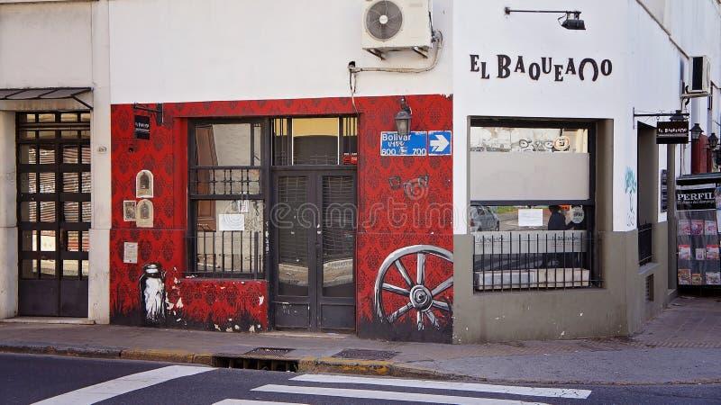 Det äldsta området av Buenos Aires San Telmo arkivbilder