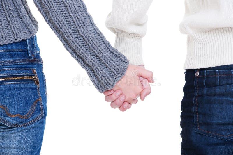 Det älskade paret hands holdingen