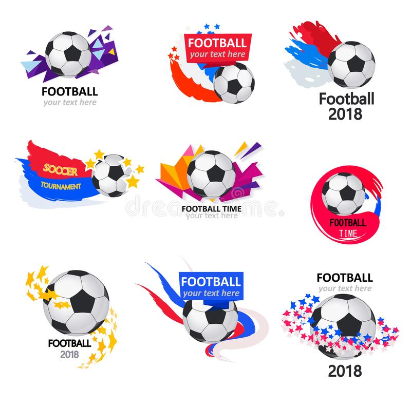 Det är dags för fotboll stock illustrationer