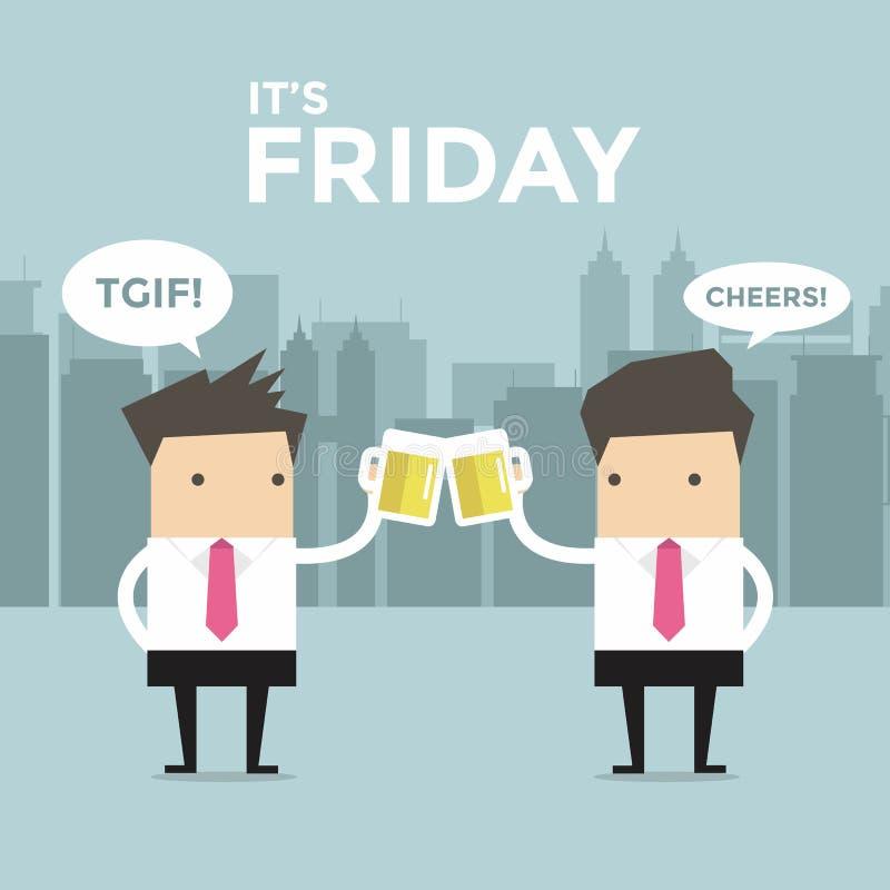Det är den fredag affärsmannen som ska rostas med öl stock illustrationer