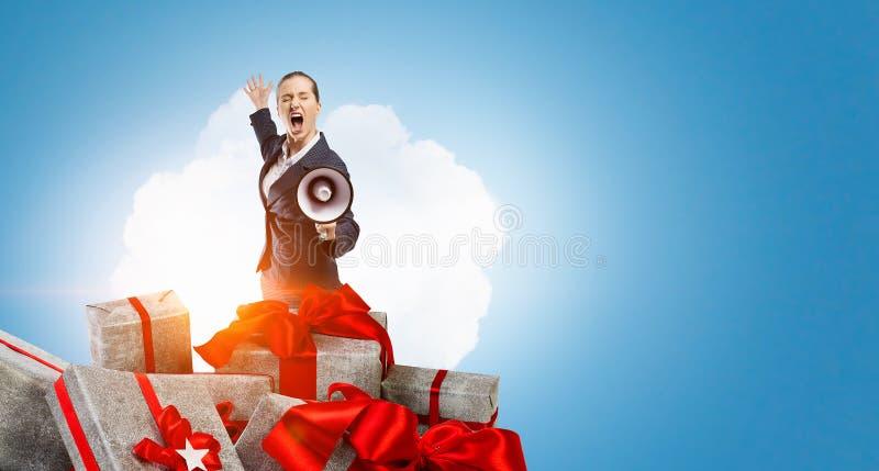 Det är den stora försäljningen Blandat massmedia Blandat massmedia royaltyfria foton