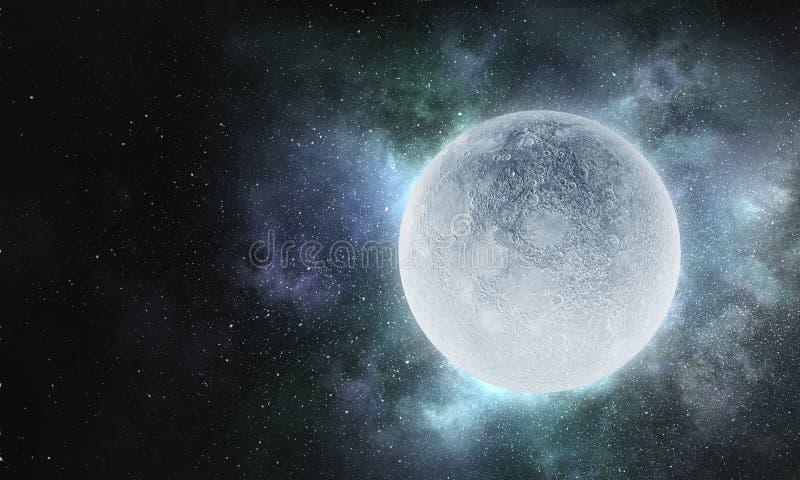 Det är fullmånen i dag royaltyfri bild