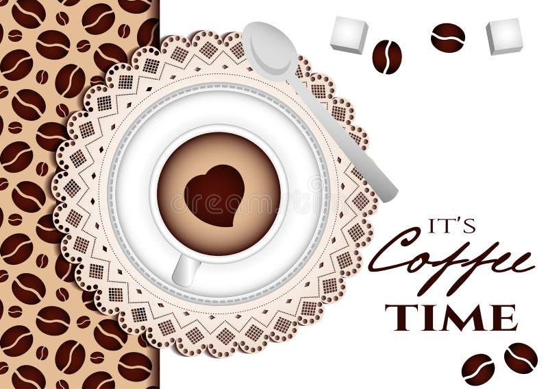 Det är kaffetid royaltyfri illustrationer