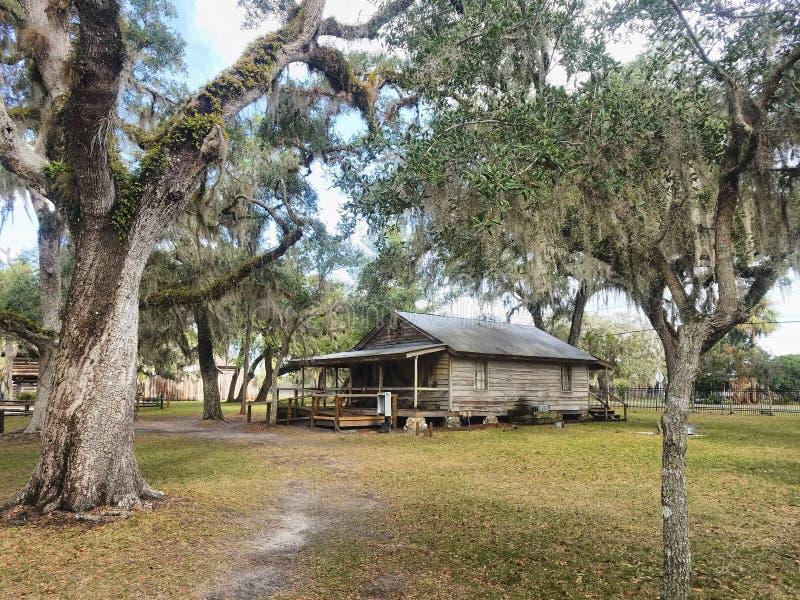 Det återställda lantgårdhuset, historisk fortjul parkerar, Florida royaltyfria foton