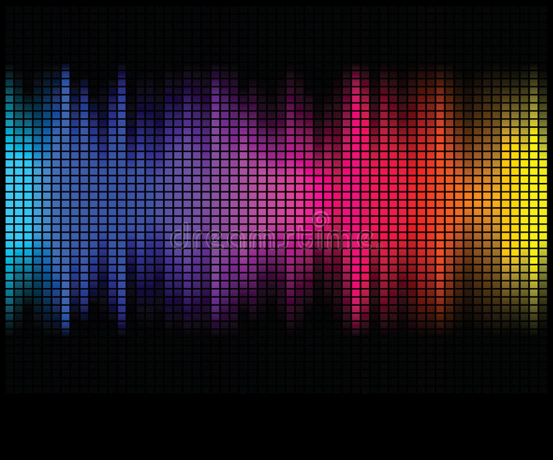 det abstrakt bakgrundsdiskot tänder multicolor vektor illustrationer