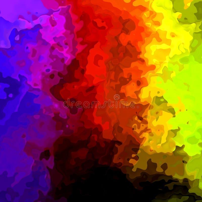 Det abstrakt begrepp befläckte sömlösa spektret för modellbakgrundsregnbågen färgar med svart på botten - modern målningkonst vektor illustrationer