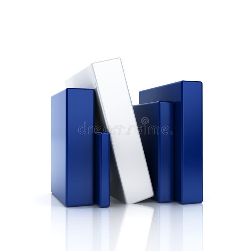Det abstrakt blåttaffärssymbolet med bommar för stock illustrationer