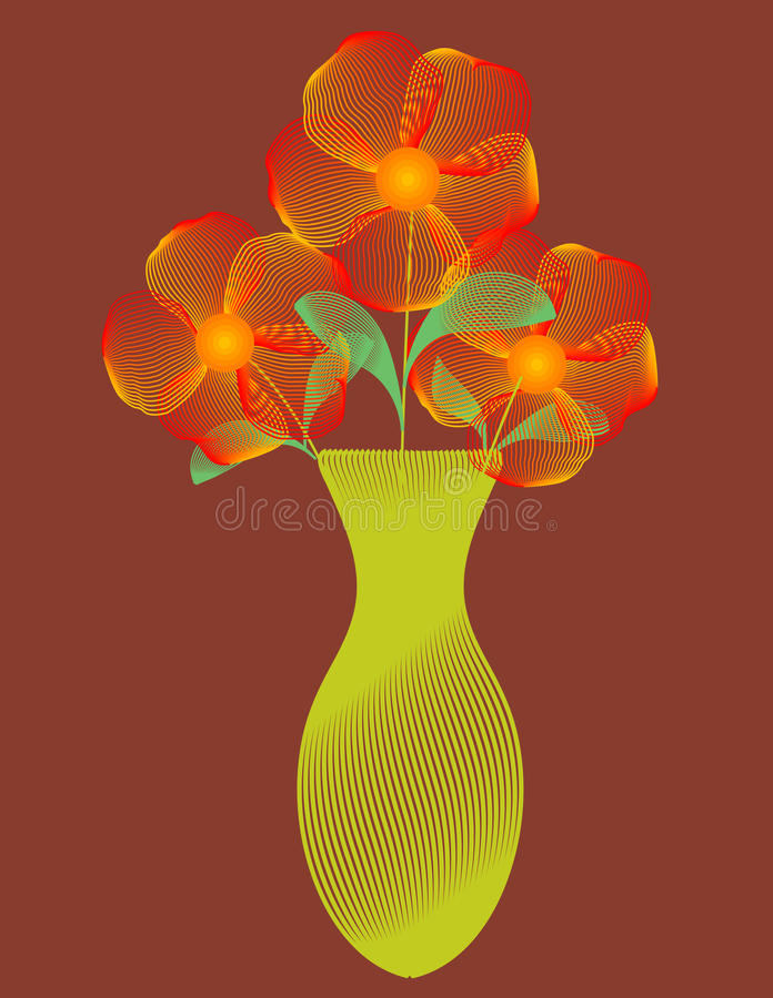 det abstrakt konstgemet blommar vasevektorn vektor illustrationer
