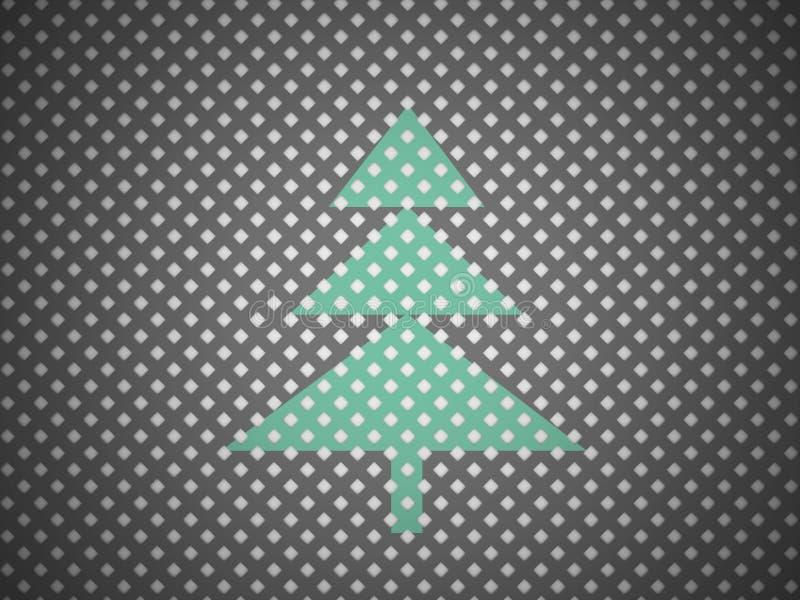 Det abstrakta julträdet mosar på royaltyfri illustrationer
