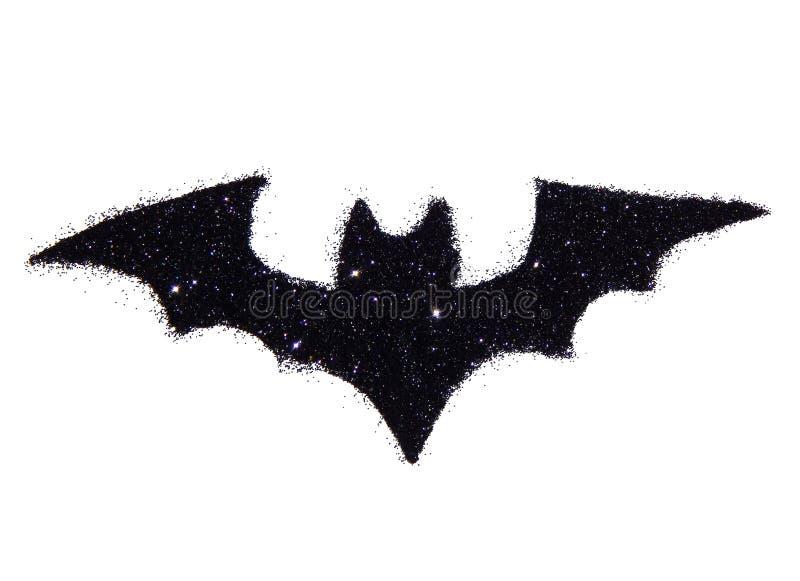 Det abstrakta slagträet av svart blänker Festligt allhelgonaaftonsymbol, symbol royaltyfri foto