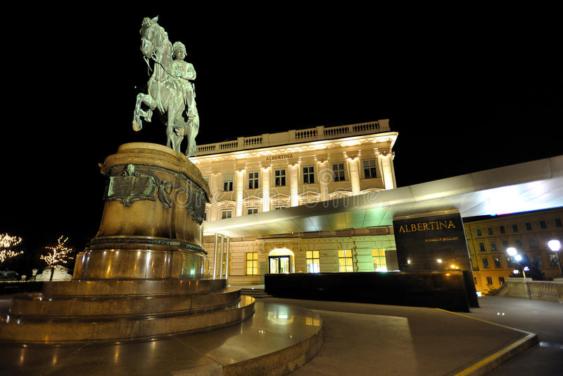 det albertina Österrike museet vienna wien fotografering för bildbyråer