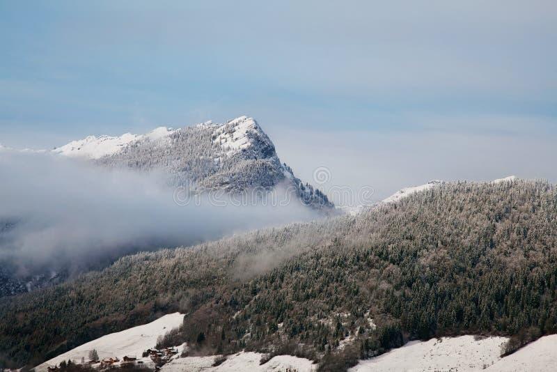 Det alpint landskap arkivbilder