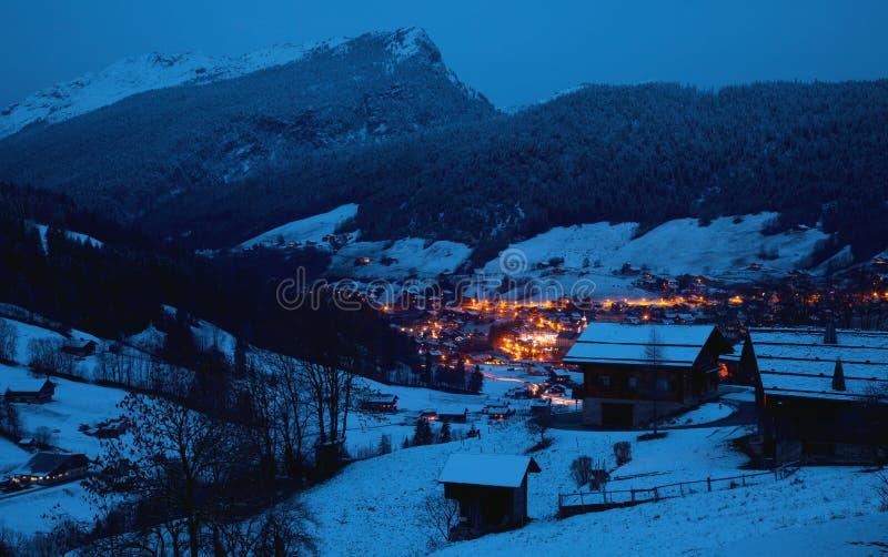 Det alpint landskap royaltyfri fotografi