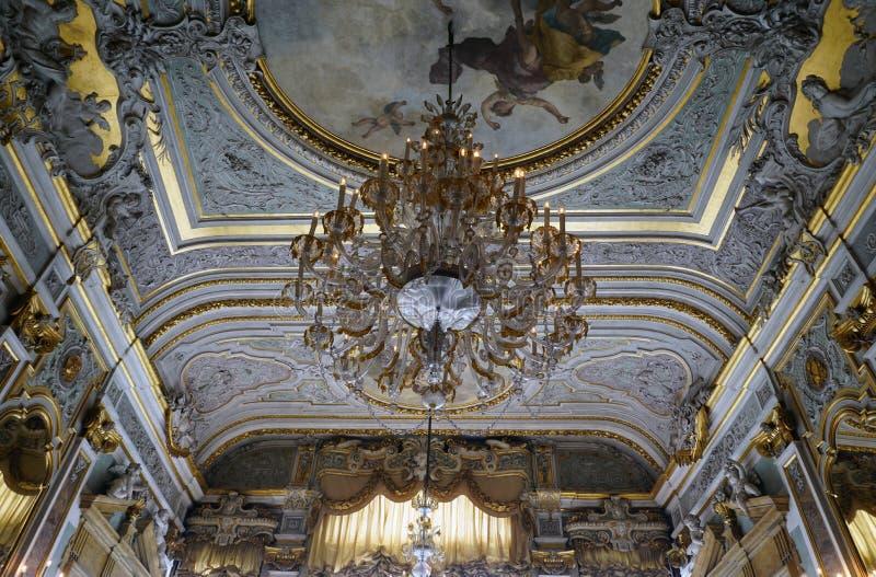 Det Aman Canal Grande hotellet som lokaliseras i Palazzoen Papadopoli i Venedig royaltyfria bilder