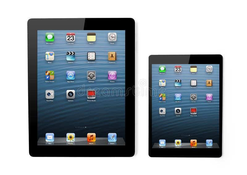Det Apple företaget har visat en mininy iPad arkivfoton