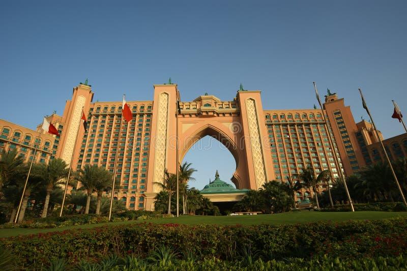 Det Atlantis hotellet, gömma i handflatan Jumeirah, Dubai, Förenade Arabemiraten arkivbilder