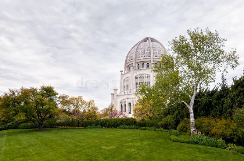 Det Bahá'í huset av dyrkan för Nordamerika arkivfoto