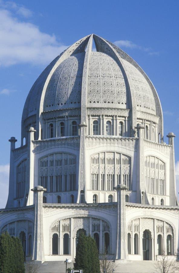 Det Bahai huset av dyrkan av östliga religioner i Wilmette Illinois arkivbilder
