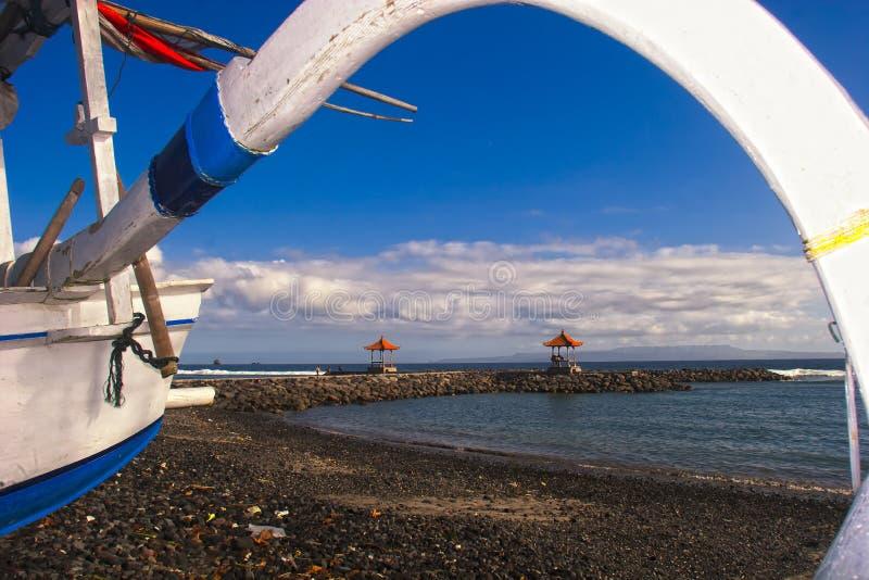 Det Bali hav beskådar royaltyfri fotografi