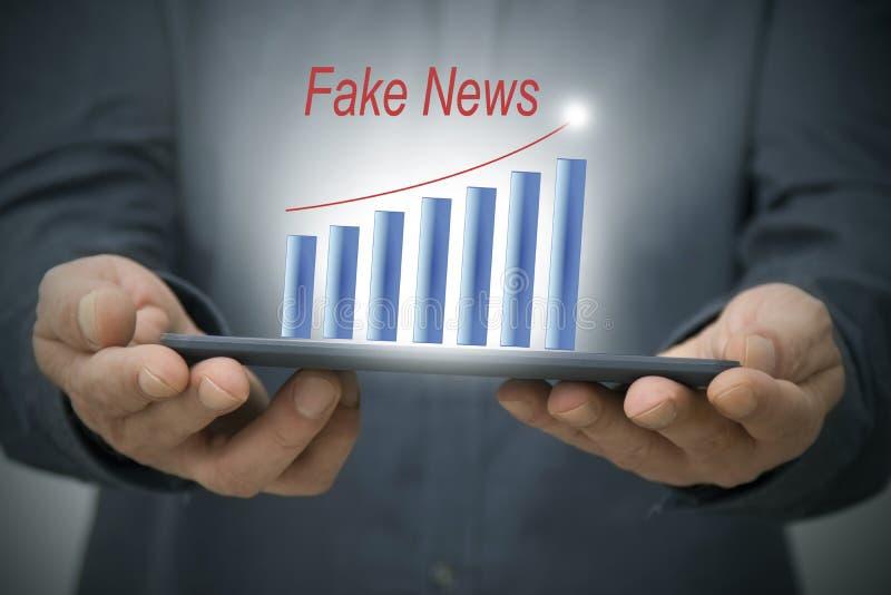 Det begreppet fejkar nyheterna royaltyfri fotografi