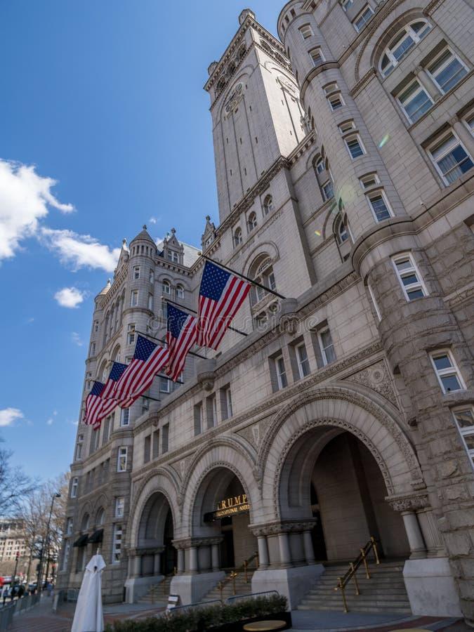 Det bekämpade internationella hotellet för trumf i Washington, D C royaltyfri foto