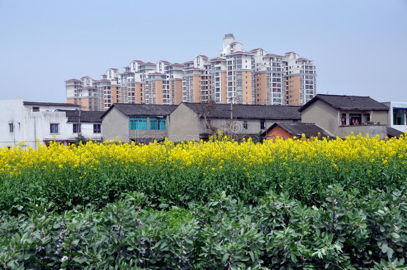 det benägna byggnadsporslinet brukar modern gammal pengzhou fotografering för bildbyråer