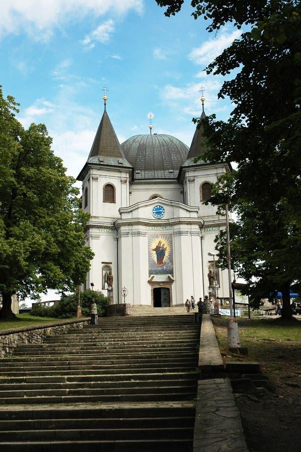 Det berömda pilgrimsfärdkyrkahelgonet Hostyn i Moravia royaltyfri bild