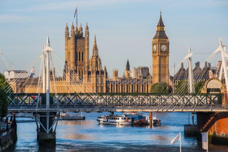 Det Big Ben tornet i London royaltyfri foto