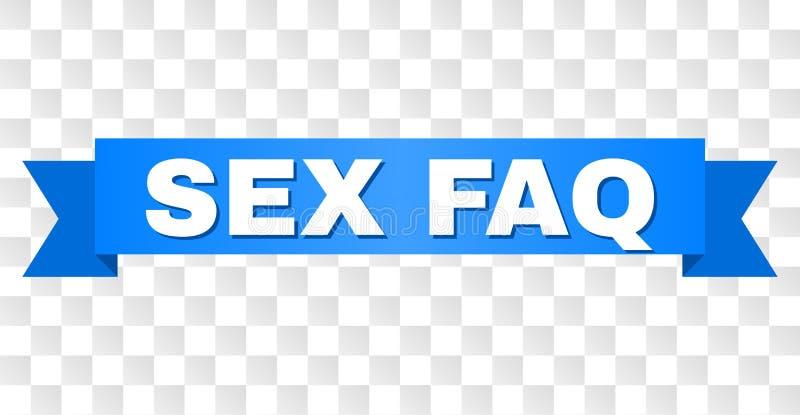 Det blåa bandet med KÖNSBESTÄMMER FAQ-överskrift royaltyfri illustrationer