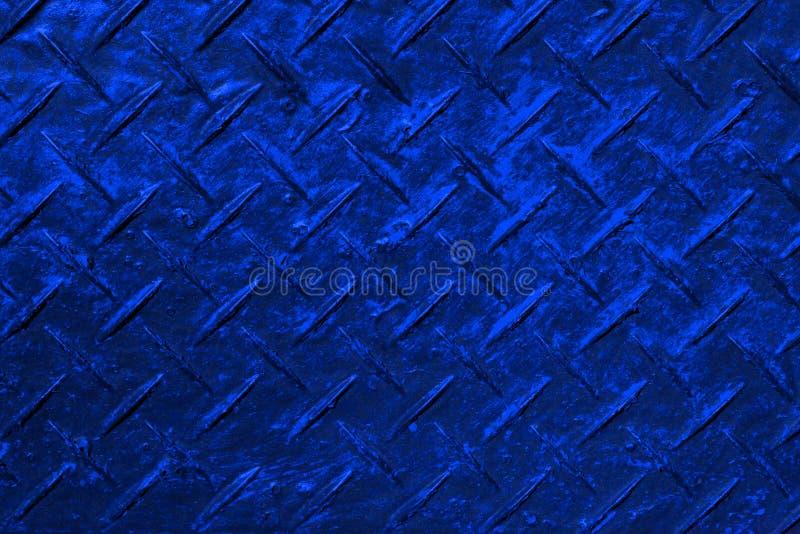 Det blåa designkorset kläckte plast- textur - fantastisk abstrakt fotobakgrund royaltyfri foto
