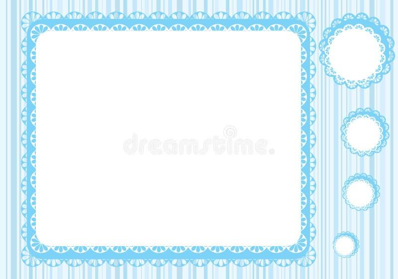 det blåa ramdiagrammet snör åt signaler vektor illustrationer