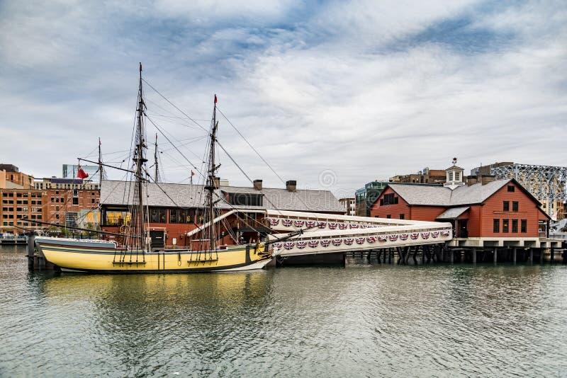 Det Boston tebjudningmuseet arkivfoto