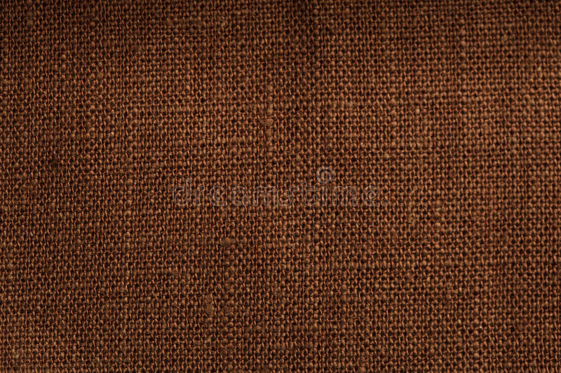 Det bruna linnet texturerar arkivfoto