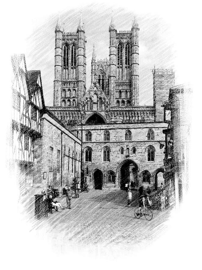 Det cathederal på Lincoln vektor illustrationer