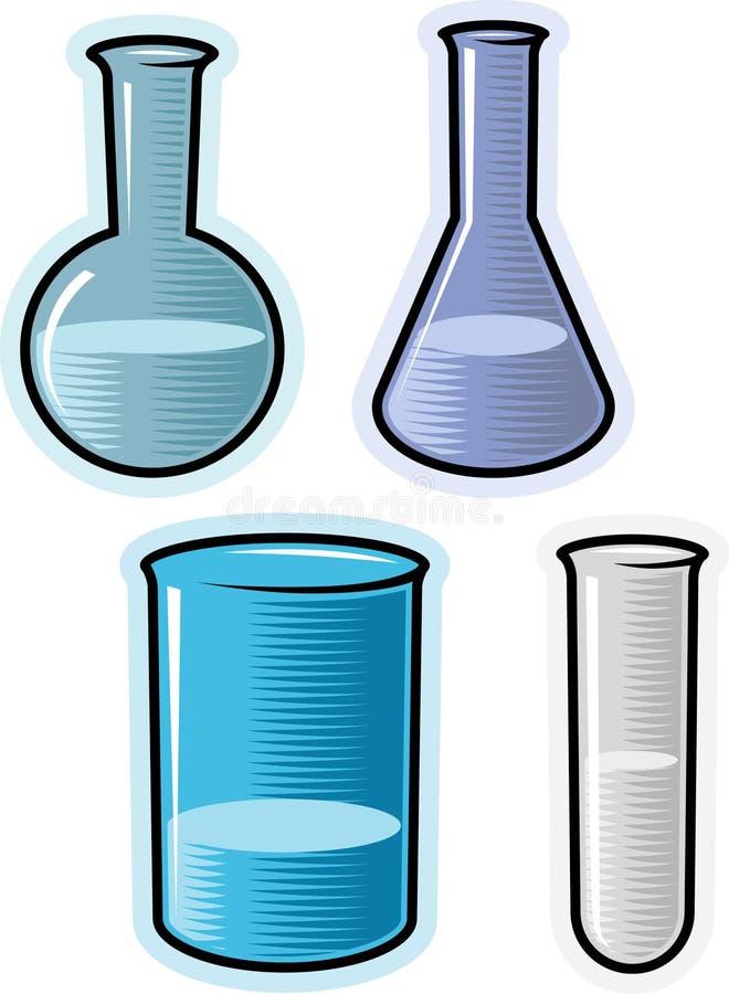 det chemical laboratoriumet objects vektorn stock illustrationer