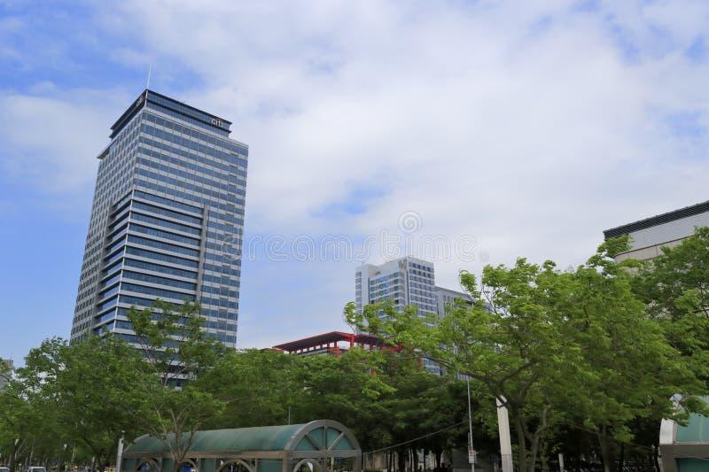 Det Citigroup tornet är en berömd modern byggnad arkivfoton