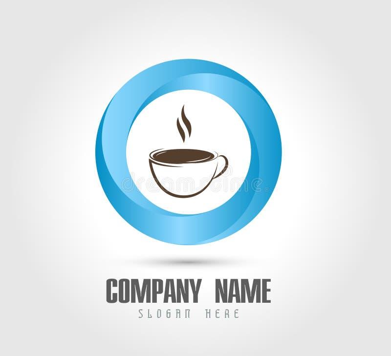 Det Coffe koppbegreppet, kaffesymbol isolerade enkelt och modernt plant symbol f?r kaffevektorsymbol f?r stock illustrationer