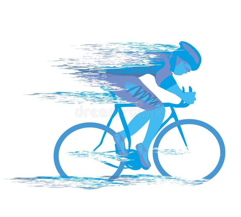 Det cykla loppet stiliserade backgrond stock illustrationer