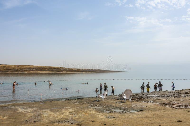 Det döda havet och dess läka gyttja israel fotografering för bildbyråer