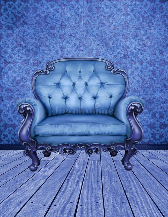 Det dekorerade blåttrummet royaltyfri illustrationer