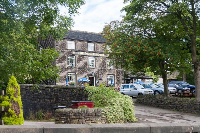 Det Diggle hotellet, Diggle, Oldham, Lancashire, England, Förenade kungariket arkivbilder