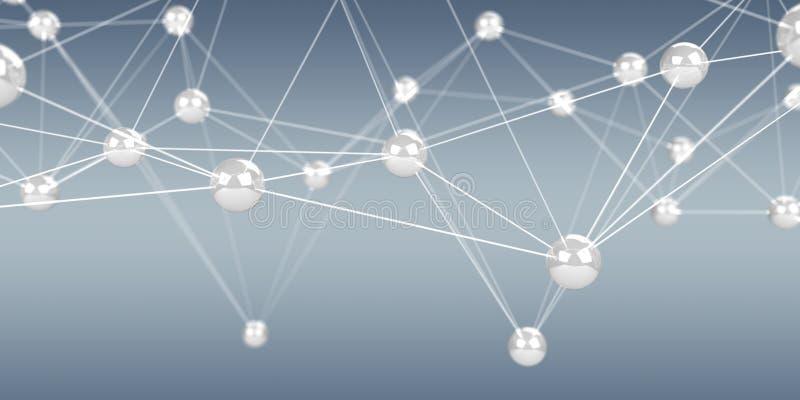 Det Digital flygnätverket klumpa ihop sig tolkningen för anslutning 3D vektor illustrationer