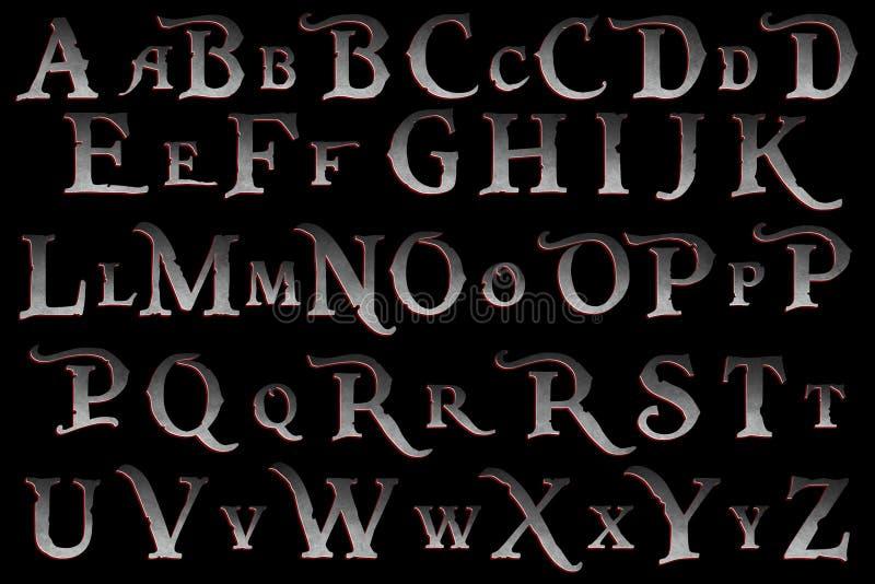 Det Digital urklippsbokalfabetet piratkopierar myterit vektor illustrationer