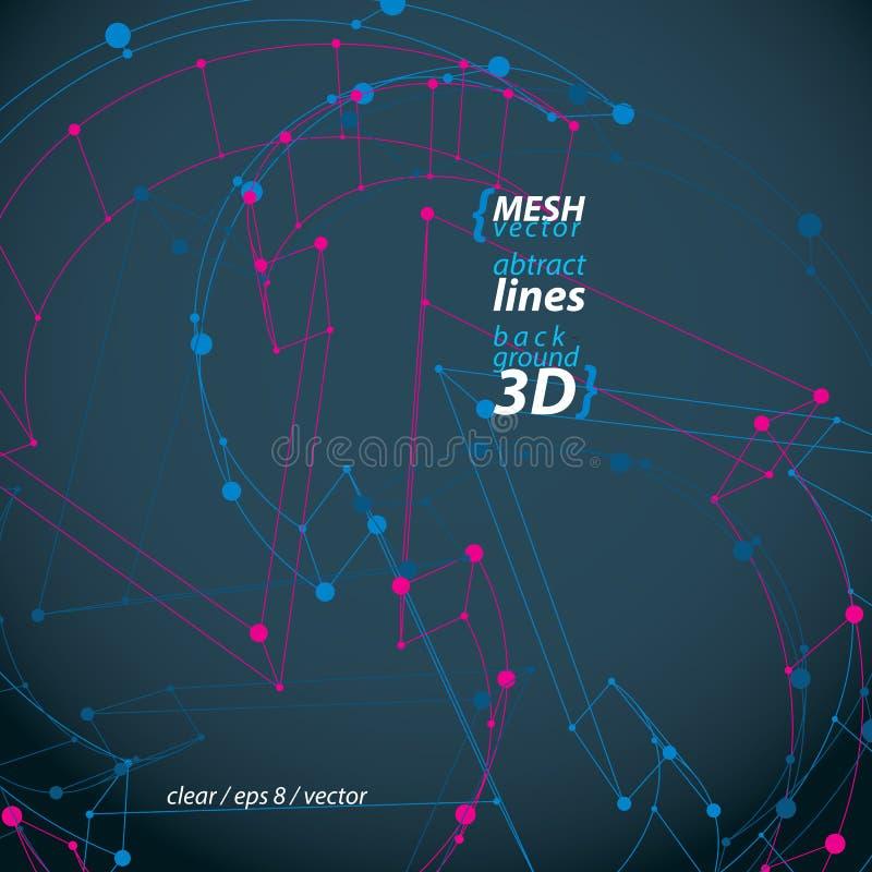 Det dimensionella eleganta ingreppsöglastecknet som är tekniskt förnyar symbolisola stock illustrationer