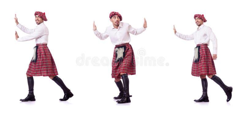 Det driftiga faktiska hindret för skotsk man fotografering för bildbyråer