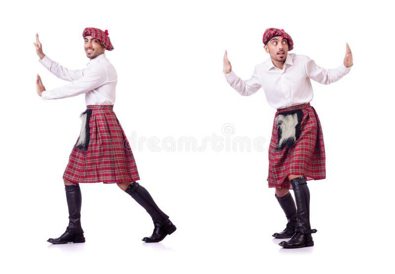 Det driftiga faktiska hindret för skotsk man arkivfoto