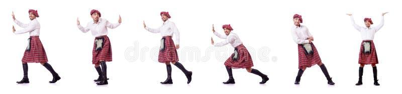 Det driftiga faktiska hindret för skotsk man royaltyfria foton