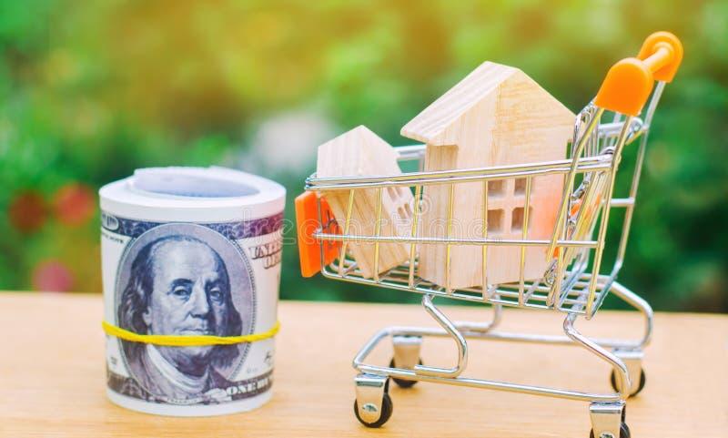 Det egenskapsinvesteringen och huset intecknar finansiellt begrepp köpa, hyra och sälja lägenheter för delshus för gods försäljni royaltyfria foton