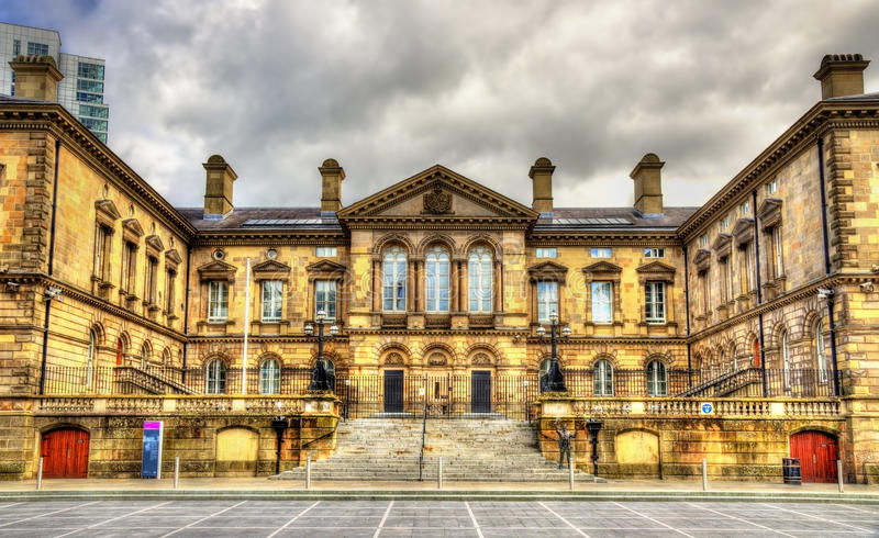 Det eget huset i Belfast royaltyfri foto