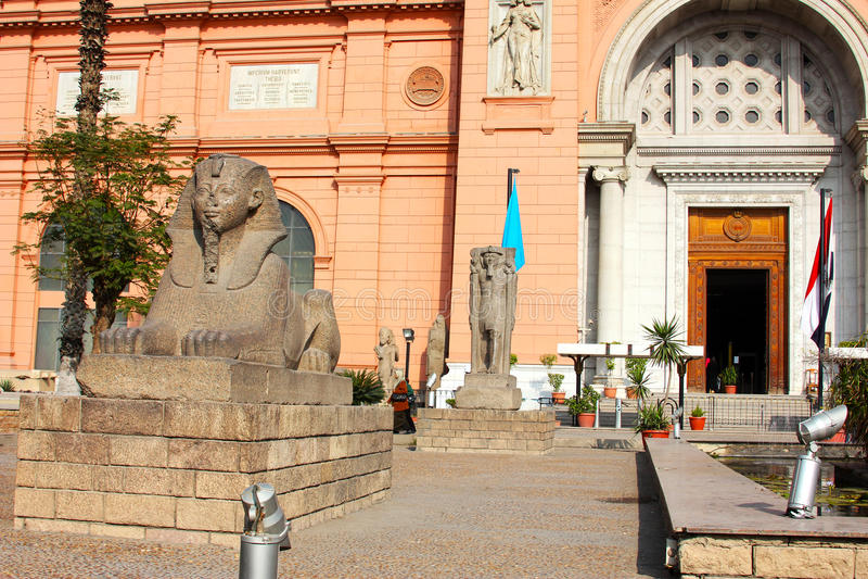 Det egyptiska museet royaltyfria foton